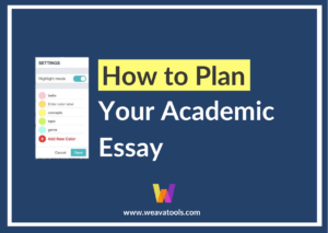 How to Plan Your Academic Essay