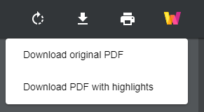 Download PDF with highlights