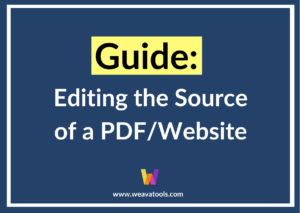 Guide to Editing the Source of a PDF/Website