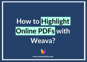 How to Highlight Online PDFs with Weava?