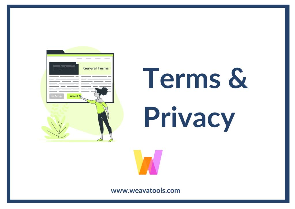 Weava Terms & Privacy